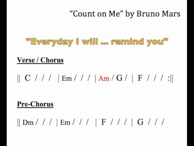 Count On Me Moving Chord Chart